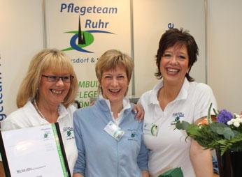 Claudia Gersdorf & Sandra Weber - Pflegedienstleitung, Ursula Balzer-Kotecki - Kaufm. Leitung